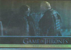 Games Of Thrones Season 2 Foil Parallel Base Card # 45 Jon Snow