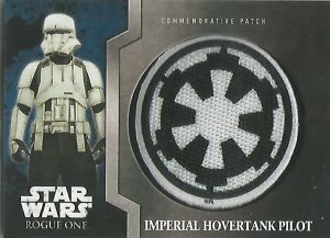 Star Wars Rogue One Black Parallel Base Card #34 Corporal Pao on Scarif