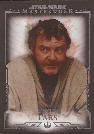 Star Wars Masterwork 2019 Base Card #33 Owen Lars